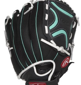 Rawlings Champion Lite Softball Glove Black Green 12.50