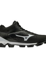 Mizuno Wave Select 9 Mid Men's Baseball Cleat Black/White