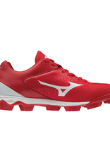 Mizuno Wave Select 9 Low Men's Baseball Cleat Red/White