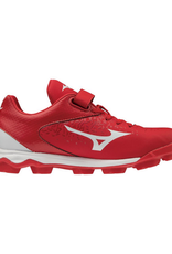 Mizuno Wave Select 9 Jr. Baseball Cleat Red/White