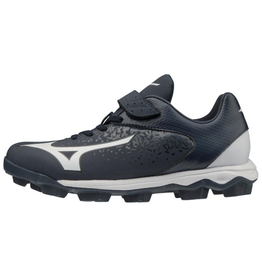 Mizuno Wave Select 9 Jr. Baseball Cleat Navy/White