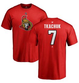 Fanatics Fanatics Men's Stack T-Shirt Tkachuk #19 Calgary Flames Red