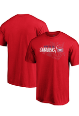 Fanatics Fanatics Men's Geo Drift T-Shirt Montreal Canadiens Red