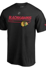 Fanatics Fanatics Men's Authentic Pro Prime T-Shirt Chicago Blackhawks Black