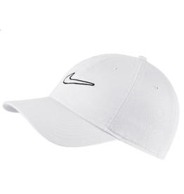 Nike Men's Heritage 86 Swoosh Wash Hat White Adjustable