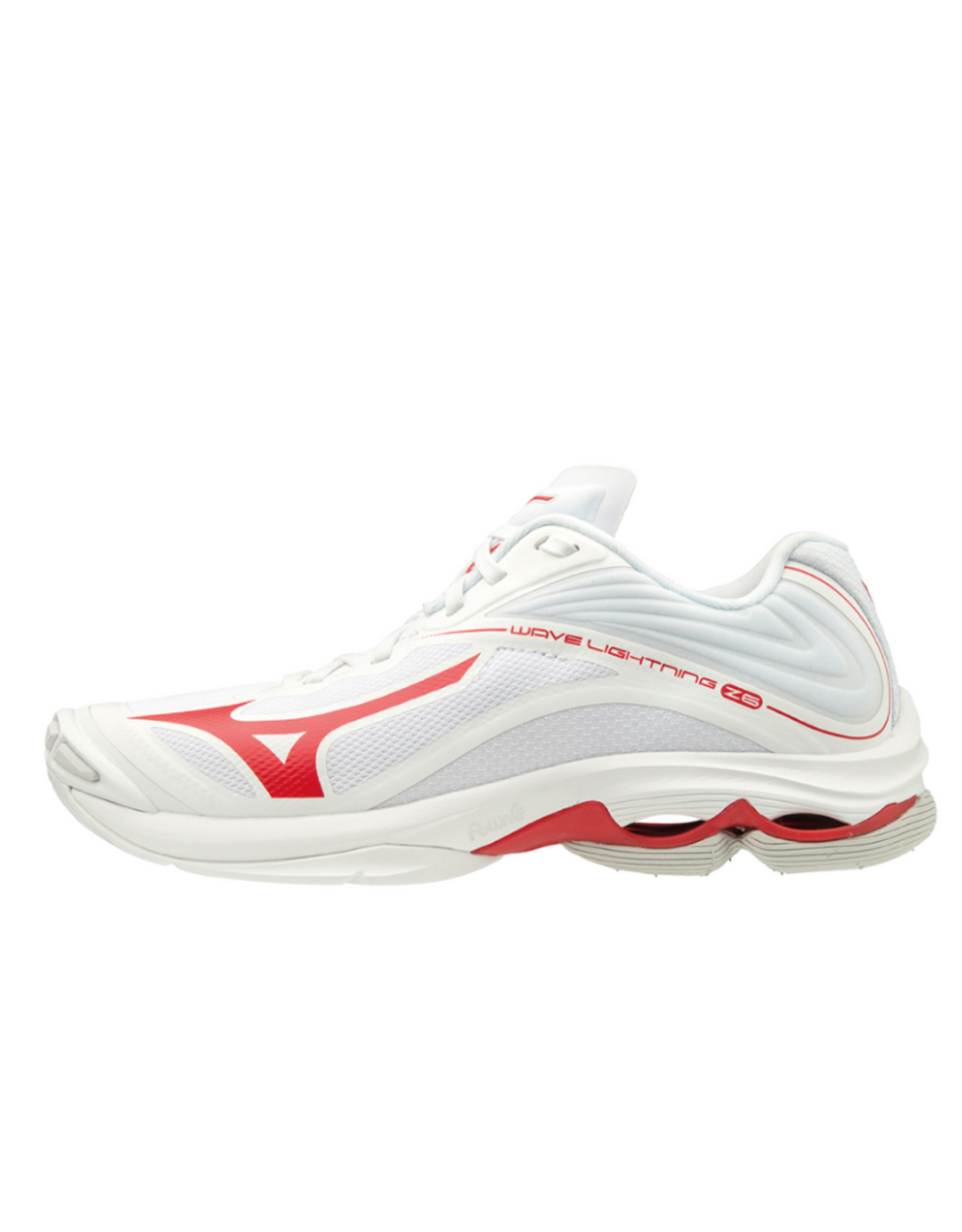 Mizuno Women's Wave Lightning Z6 Shoe White/Red