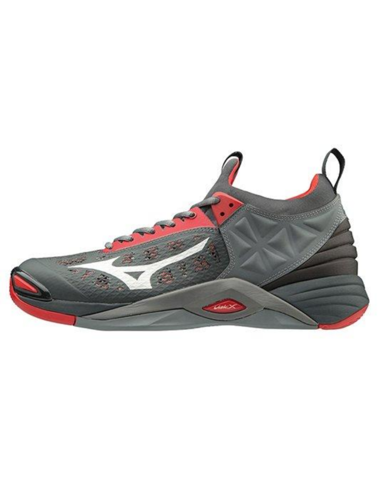 Mizuno Men's Wave Momentum Shoe Grey/Red