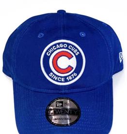 New Era Youth 9TWENTY Circle B1 Adjustable Hat Chicago Cubs Blue