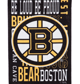 "Team Sports America Fan Rules House Flag 29"" x 43"" Boston Bruins"