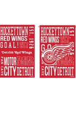 """Team Sports America NHL Fan Rules House Flag 29"""" x 43"""" Detroit Red Wings"""