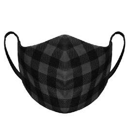 AK Reusable Fabric Face Mask Plaid Black