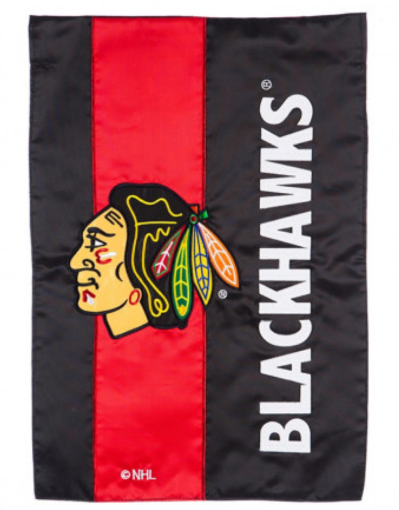 "Team Sports America NHL Embellish Regular Flag 28""X44"" Chicago Blackhawks"