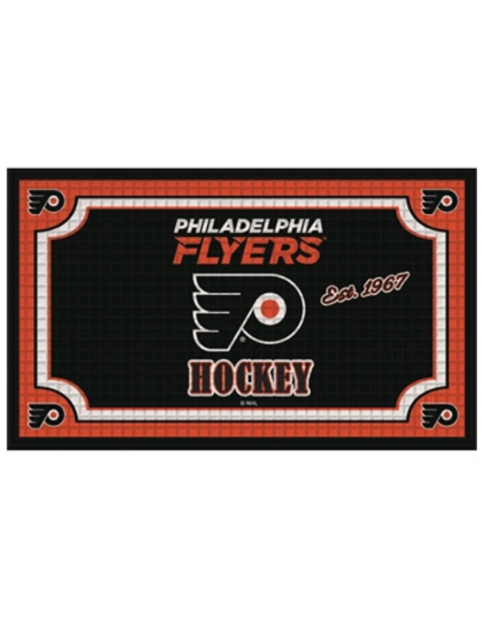 Team Sports America NHL Embossed Doormat Philadelphia Flyers