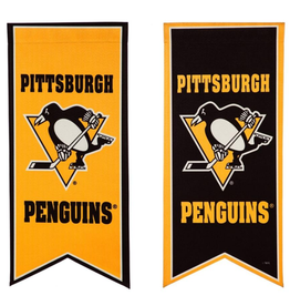 "Team Sports America NHL Flag Banner 12.5""x28"" Pittsburgh Penguins"