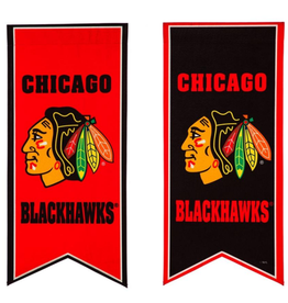 "Team Sports America NHL Flag Banner 12.5""x28"" Chicago Blackhawks"