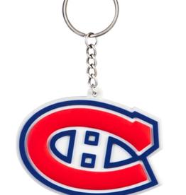 Team Sports America NHL Rubber Logo Keychain Canadiens