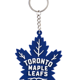 Team Sports America NHL Rubber Logo Keychain Maple Leafs