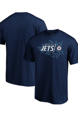Fanatics Fanatics Men's Geo Drift T-Shirt Winnipeg Jets Navy