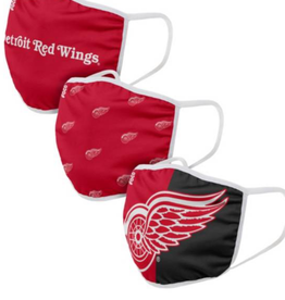 FOCO FOCO Reusable Face Coverings 3 Pack Detroit Red Wings
