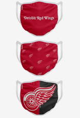 FOCO FOCO Adult Face Cover 3 Pack Detroit Red Wings