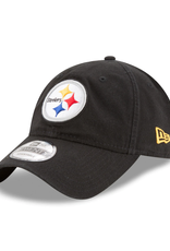 New Era Men's Core Classic TW Adjustable Hat Pittsburgh Steelers Black