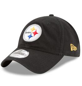 New Era Men's Core Classic TW Adjustable Hat Pittsburgh Steelers Black