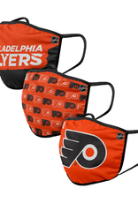 FOCO FOCO Adult Gametime Face Cover 3 Pack Philadelphia Flyers