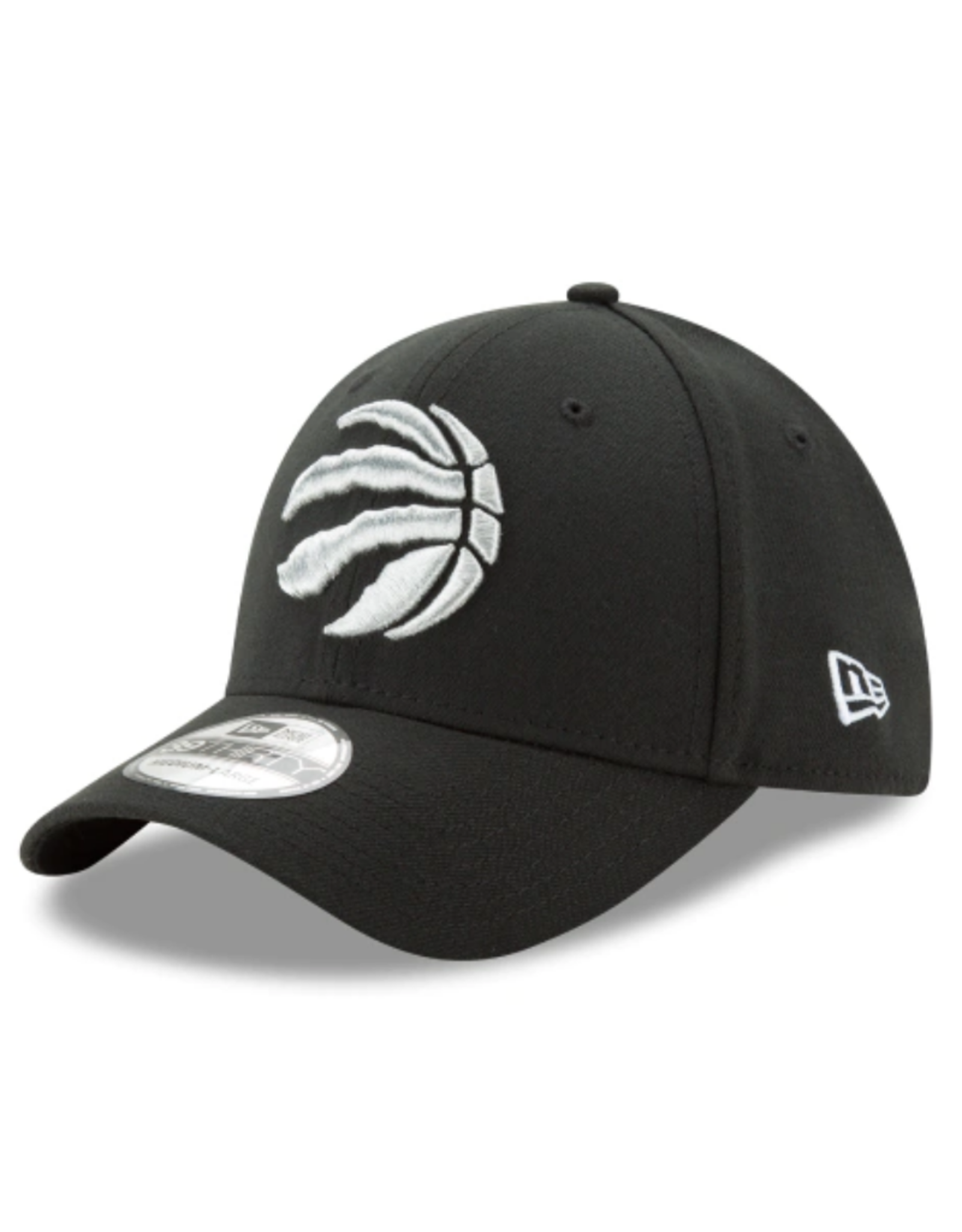 New Era 39THIRTY Team Classic Stretch Hat Toronto Raptors Black/Silver