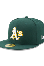 New Era On-Field  Authentic 59FIFTY Road Hat Oakland Athletics Green