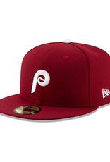 New Era On-Field  Authentic 59FIFTY Alternate2 Hat Philadelphia Phillies Burgandy