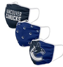FOCO FOCO Reusable Face Coverings 3 Pack Vancouver Canucks