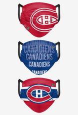 FOCO FOCO Adult Matchday Face Cover 3 Pack Montreal Canadiens