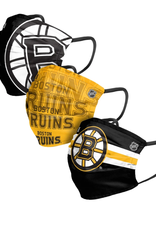 FOCO FOCO Adult Matchday Face Cover 3 Pack Boston Bruins