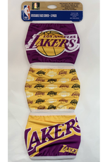 FOCO FOCO Adult Gametime Face Cover 3 Pack Los Angeles Lakers