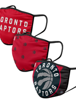 FOCO FOCO Youth  Face Cover 3 Pack Toronto Raptors