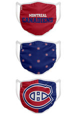FOCO FOCO Youth Face Cover 3 Pack Montreal Canadiens
