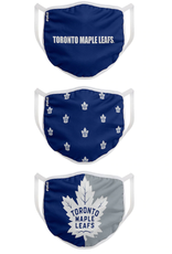 FOCO FOCO Youth Face Cover 3 Pack Toronto Maple Leafs