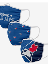 FOCO FOCO Youth Face Cover 3 Pack Toronto Blue Jays