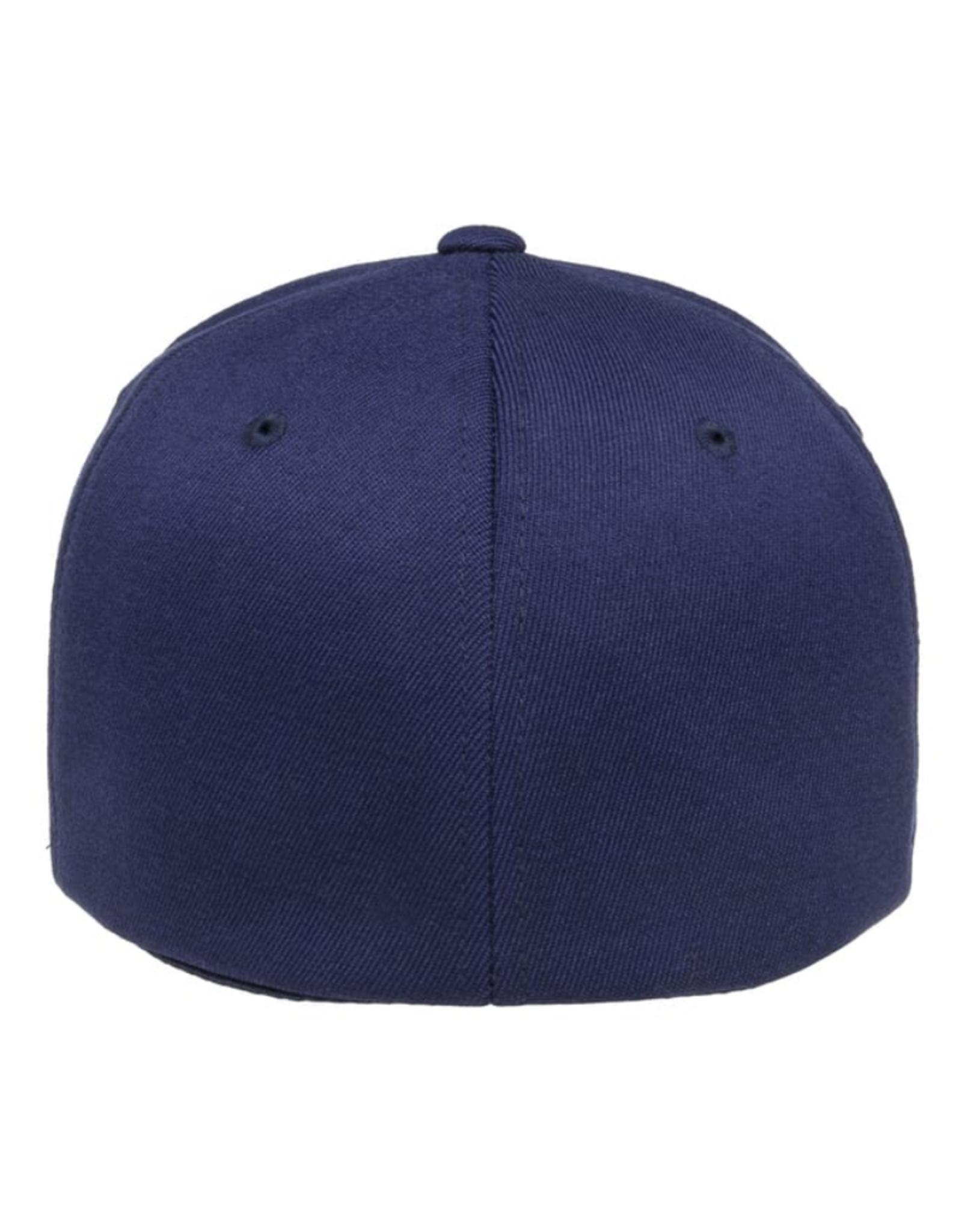 ATC Men's Wooly Combed Blank Flexfit Hat Navy