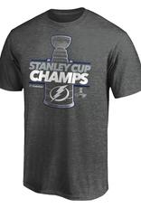 Fanatics Fanatics 2020 NHL Stanley Cup Champions Locker Room T-Shirt Tampa Bay Lightning Grey