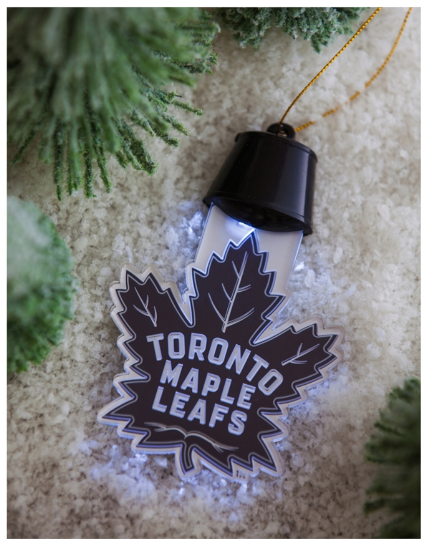 Team Sports America NHL Acrylic LED Ornament Toronto Maple Leafs
