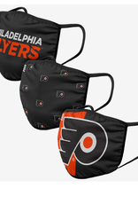 FOCO FOCO Adult Face Cover 3 Pack Philadelphia Flyers