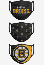 FOCO FOCO Youth Face Cover 3 Pack Boston Bruins