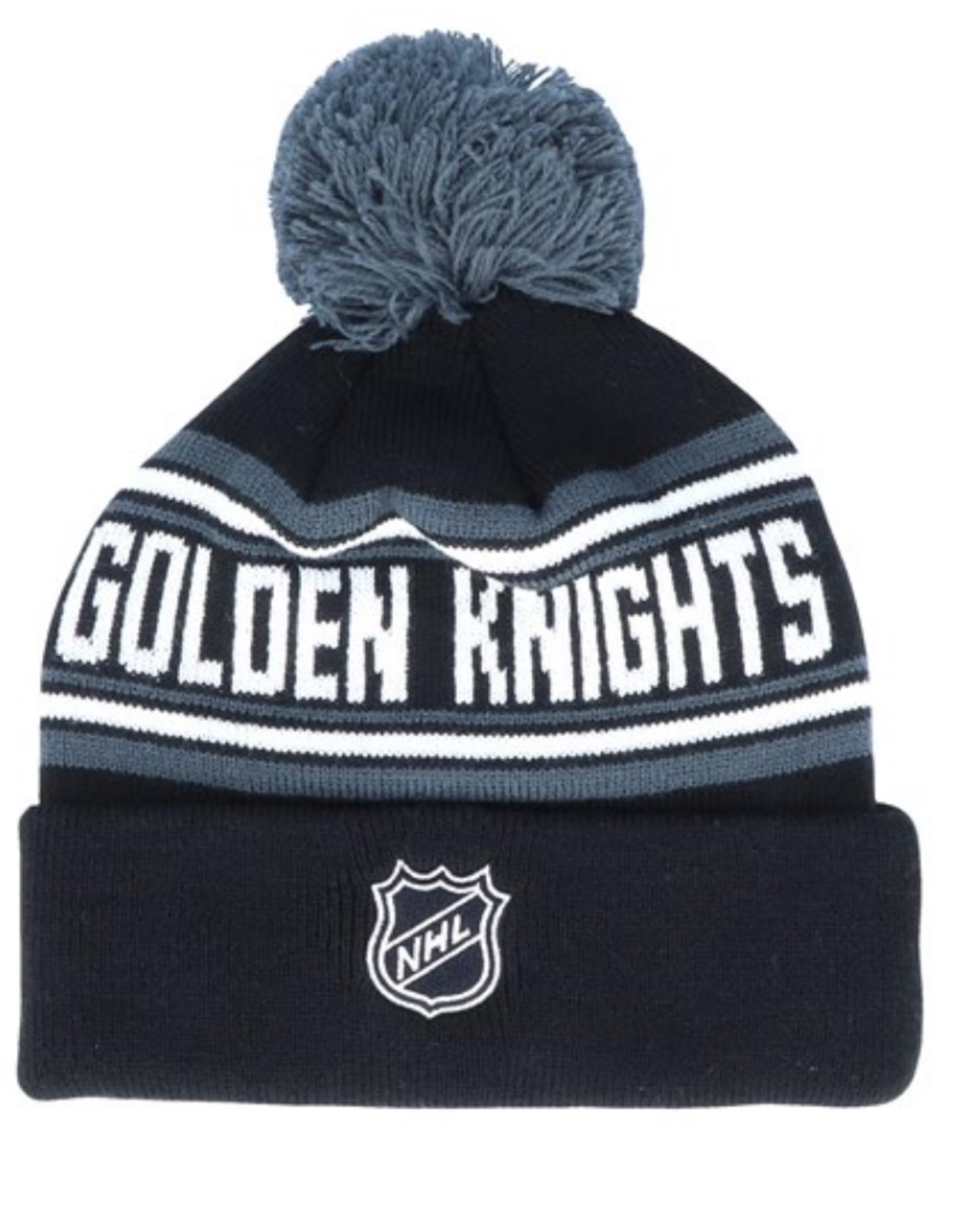Outerstuff Youth Wordmark Jacquard Cuff Pom Knit Vegas Golden knights