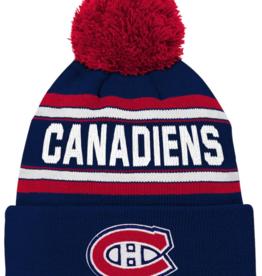 Outerstuff Kids Wordmark Jacquard Cuff Pom Knit Montreal Canadiens