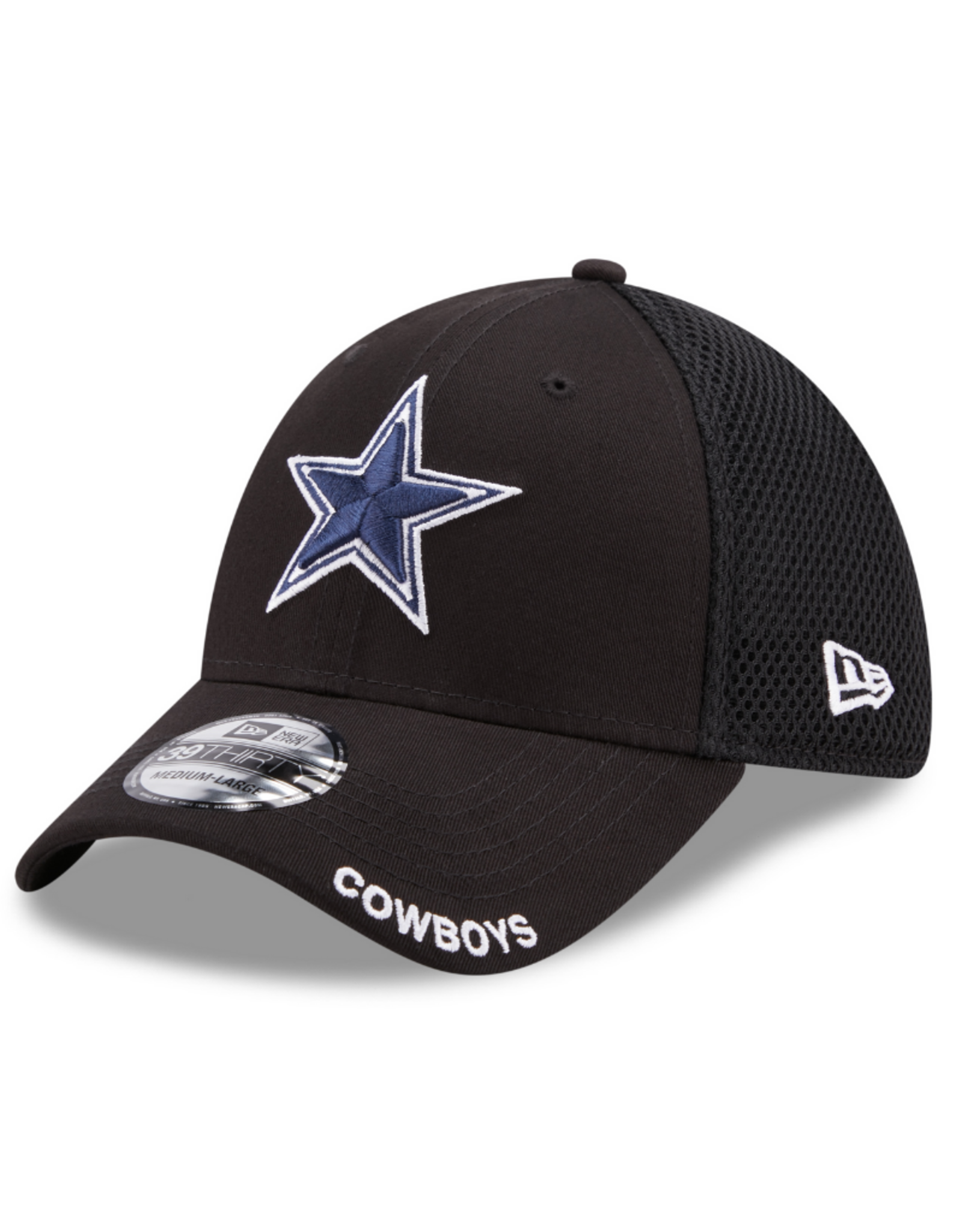 New Era Men's 39THIRTY Classic Neo B3 Hat Dallas Cowboys Black