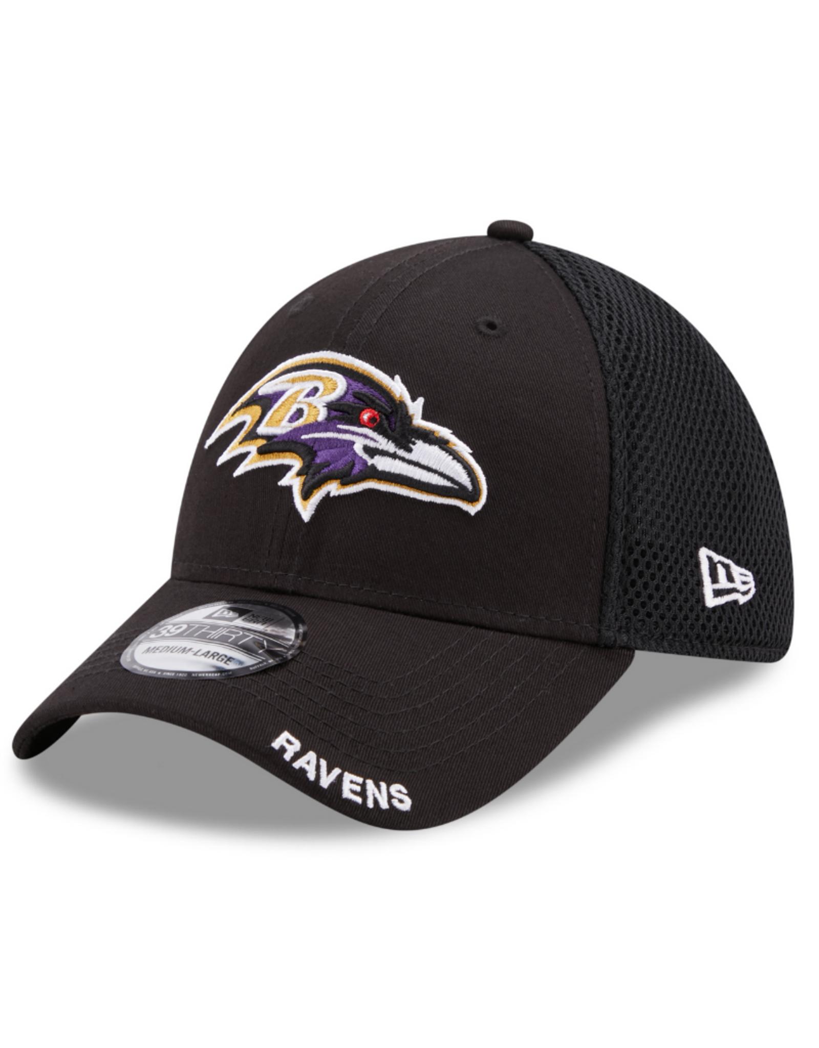 New Era Men's 39THIRTY Classic Neo B3 Hat Baltimore Ravens Black