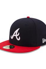 New Era On-Field Home Atlanta Braves Navy/Red