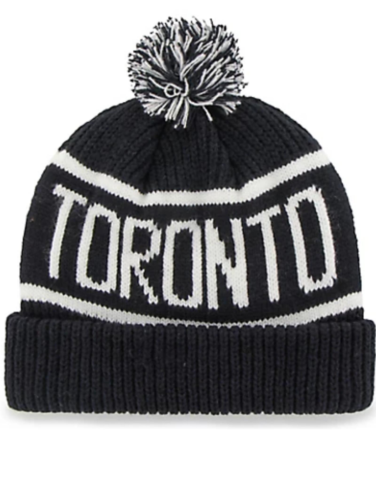 '47 Adult Calgary Cuff Knit Toronto Maple Leafs Navy