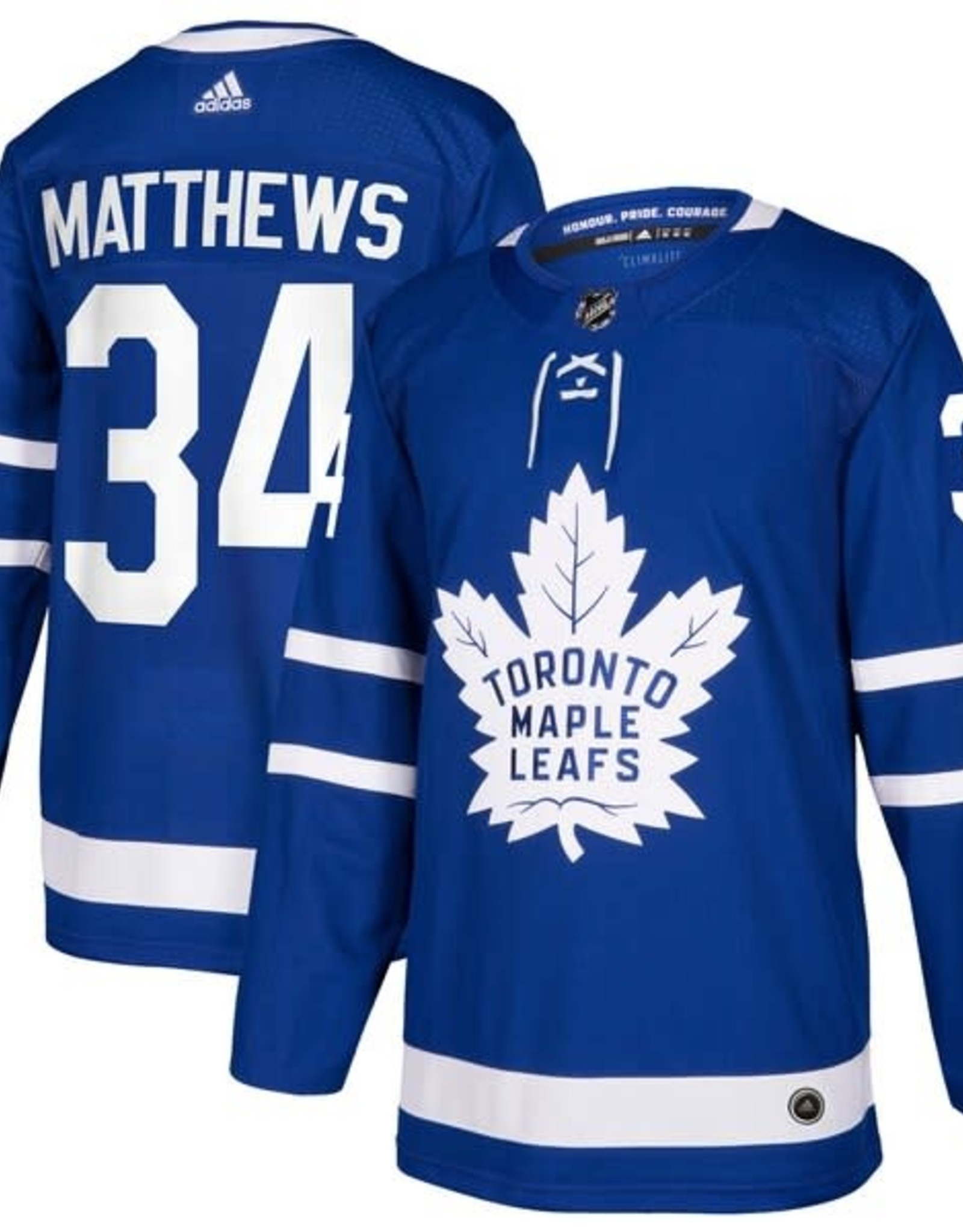 Adidas Adidas Adult Authentic Toronto Maple Leafs Matthews Jersey Blue